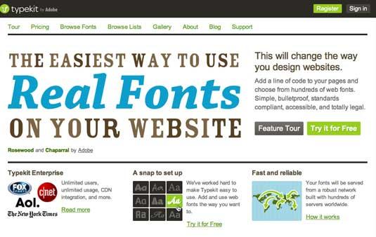 Design for screen: web fonts
