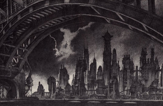 Gotham City: Anton Furst concept art