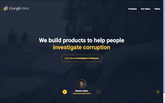 Google Ideas homepage