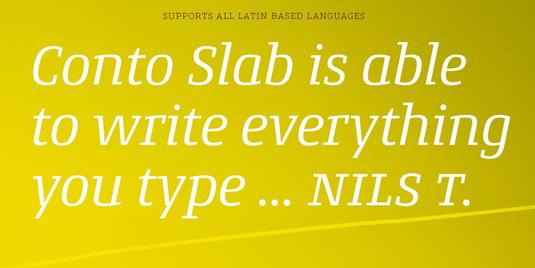 Conto Slab font