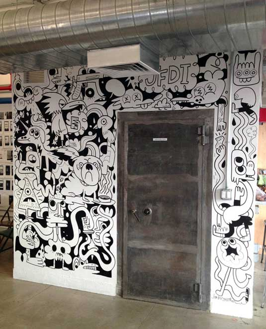21 incredibly cool design office murals creative bloq for Creative mural designs