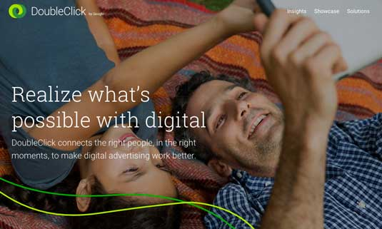 DoubleClick homepage