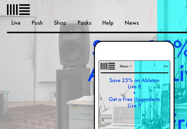 Best responsive websites: Ableton
