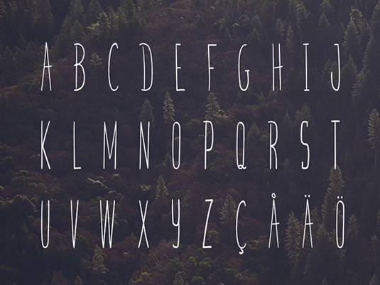 Free font: Skinny Bastard