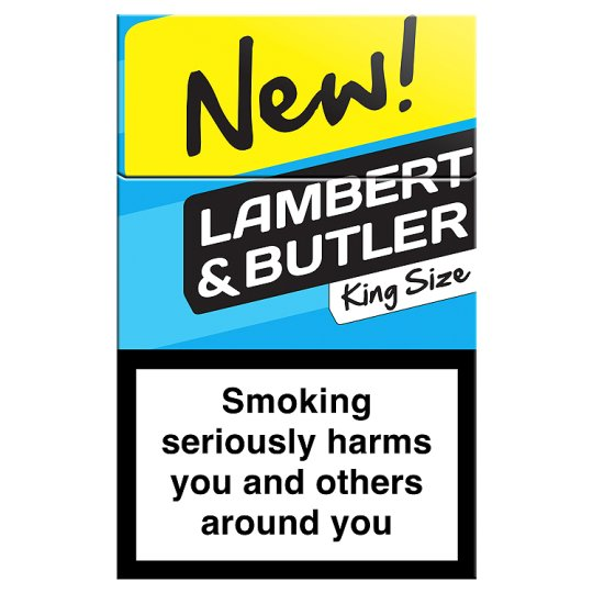 Packet of Lambert and Butler cigarettes
