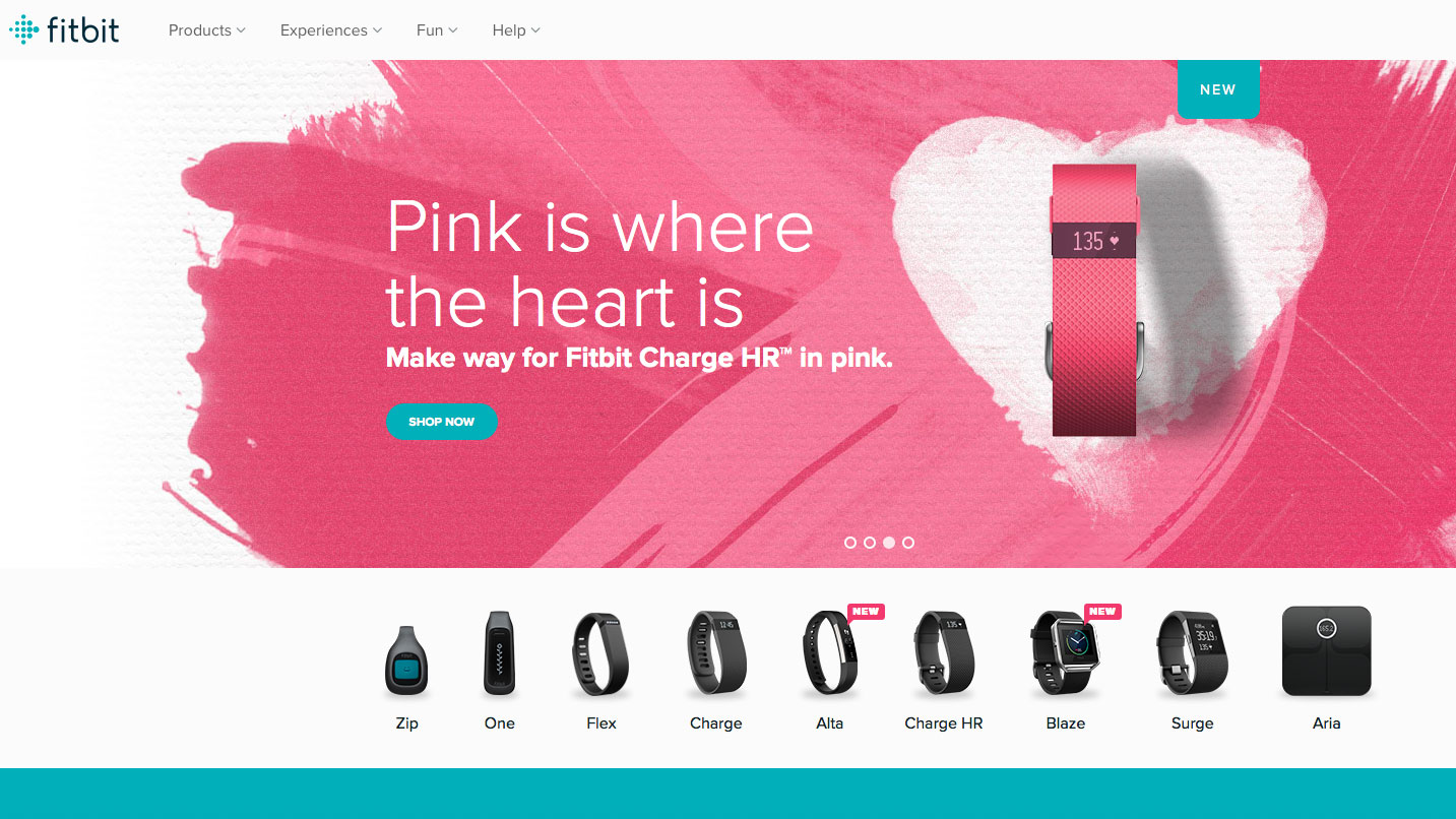 Web design inspiration: Fitbit