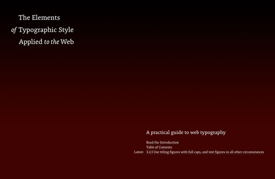 free ebooks for web designers: The Elements of Typographic Style Applied to the Web