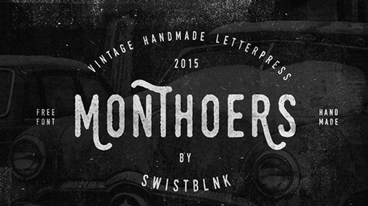 Free font: Monthoers