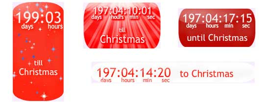 Christmas countdown widgets: Christmas Countdown Clock