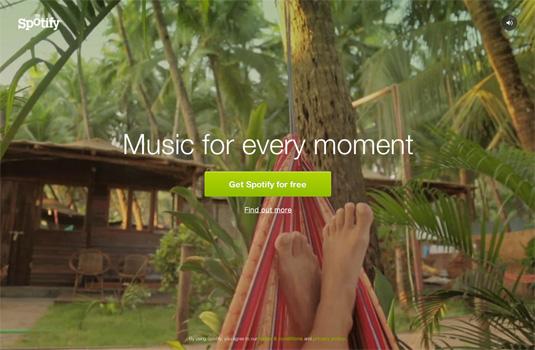 Website video background: Spotify