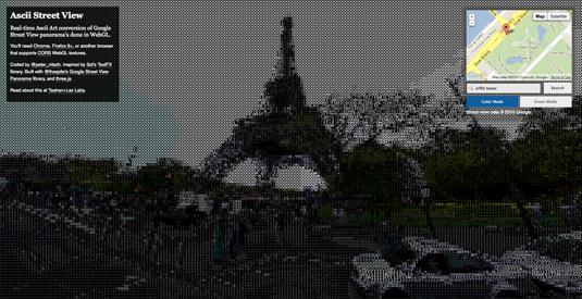 ASCII Google Street View: Eiffel