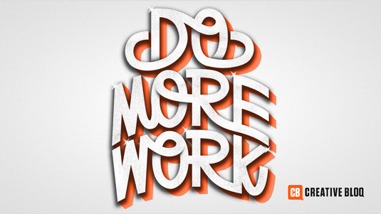 Typography wallpapers: Do More Work