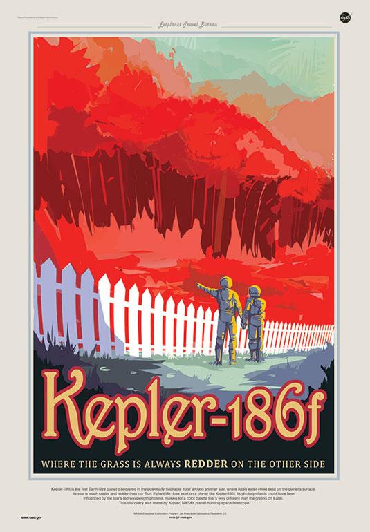 NASA Posters - Kepler-186f