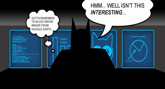 Batman infographic: Wayne Manor
