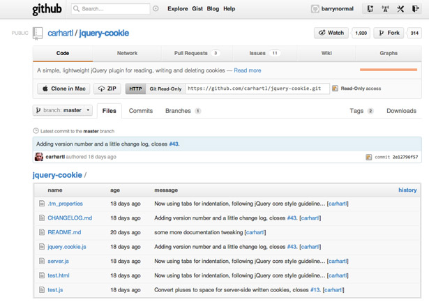 Cookie-handling became bothersome following the recent change in EU law. Klaus Hartl's jquery.cookie makes it easy again