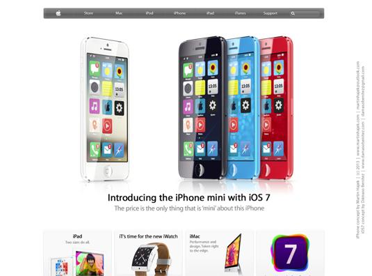 iPhone Mini running iOS 7 4