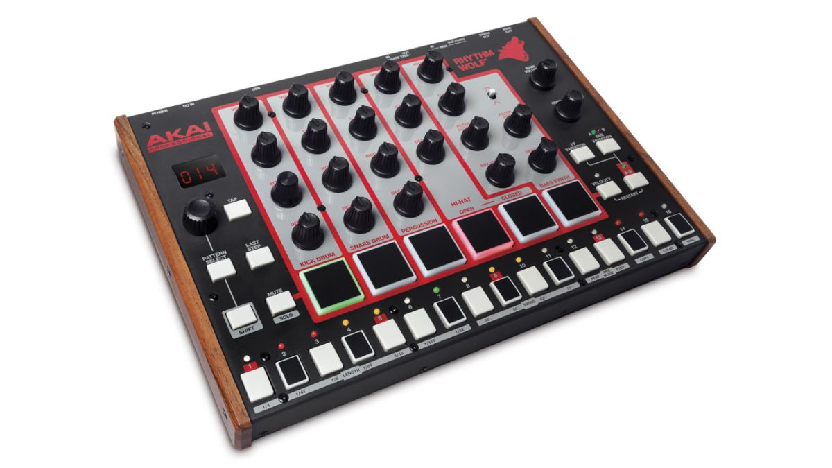 musikmesse 2014 video akai unveils rhythm wolf drum machine and bass synth musicradar. Black Bedroom Furniture Sets. Home Design Ideas