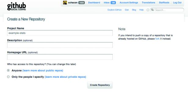 Getting up and running with GitHub is a doddle - creating a new project is as easy as typing in your project Full copy Distributed version control systems mean name and hitting Create Repository