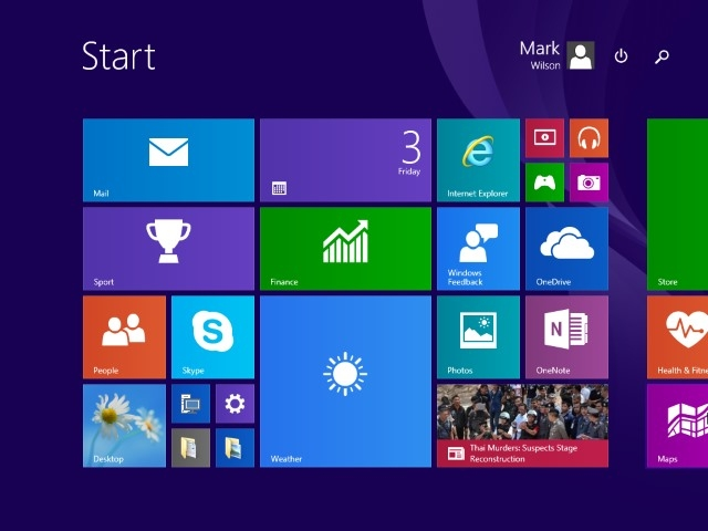 Back to its former glory -- the Start screen in Windows 10