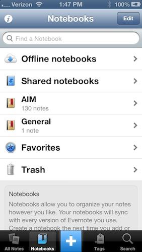 Evernote (for iPhone)