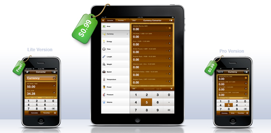UI design: GlobeConvert