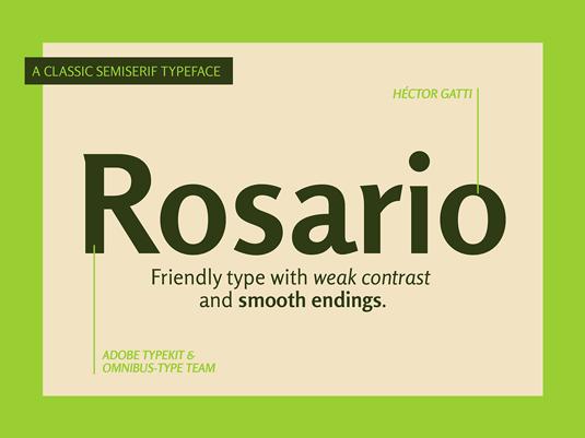 Rosario font