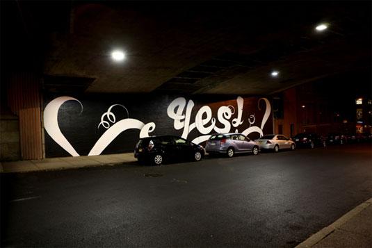80-foot Sagmeister mural