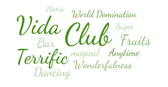 Free cursive fonts Dancing script