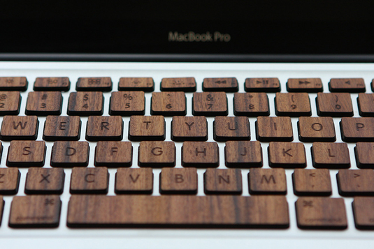 Wooden Macbook keyboard 3