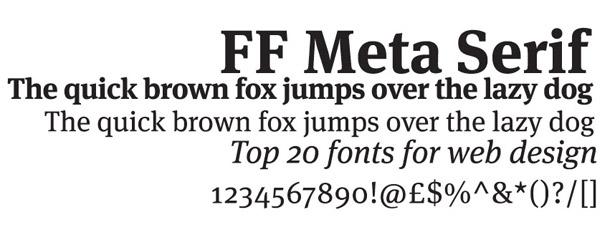 Web fonts: FF Meta Serif