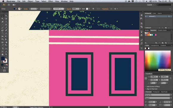 Adobe Illustrator CS6: The expandable sampling area