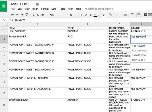Google Docs screengrab