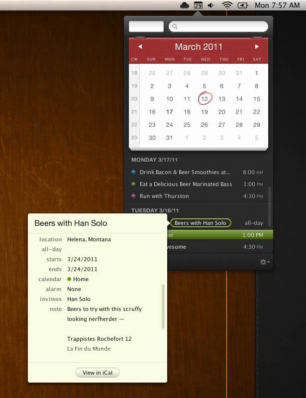 Fantastical -- Meet your Mac's new calendar.