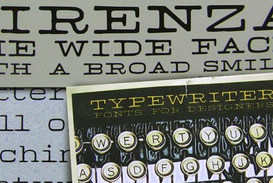 Typewriter fonts: Firenza