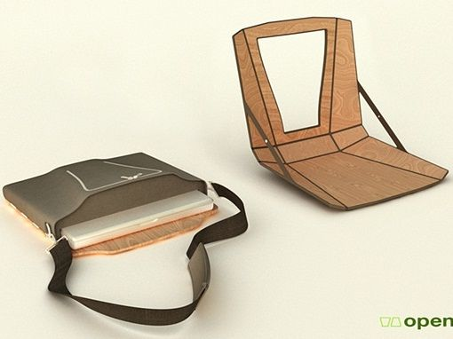 Laptop Bag That Flips Out Into Portable Chair And Desk
