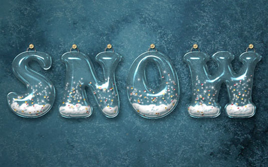 typography tutorials: snow globe effect