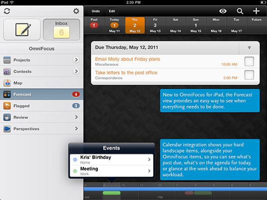 Productivity apps: OmniFocus