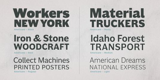 Americane font