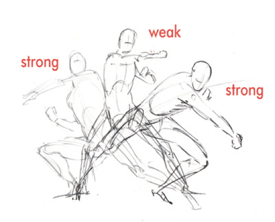 How to draw a knockout action scene
