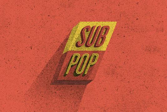 record label logos: sub pop