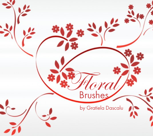 Best free Illustrator brushes - floral brushes