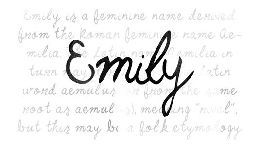 Free font: Emily