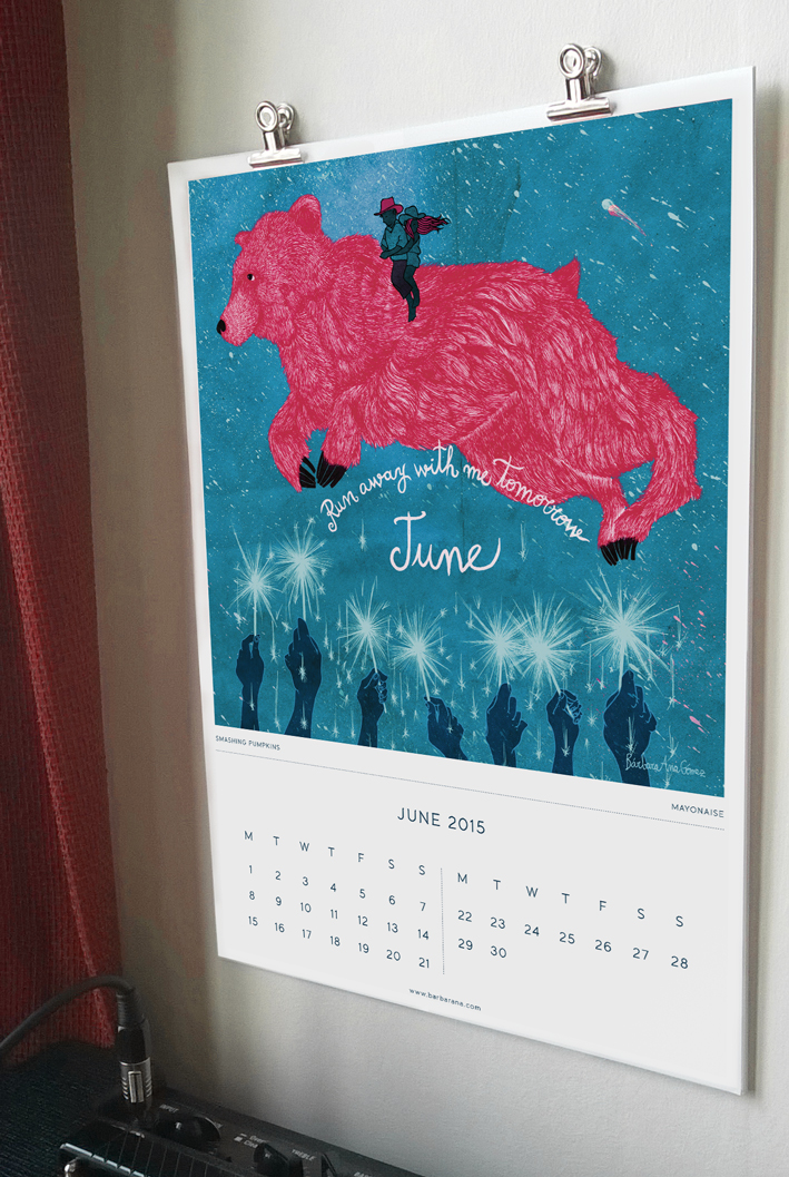 illustrated songs calendar