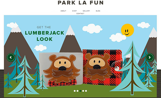 Sliders in web design: Park La Fun