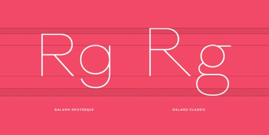 Galano Classic font