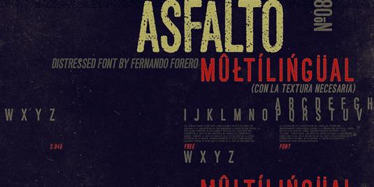 Free font: Asfalto