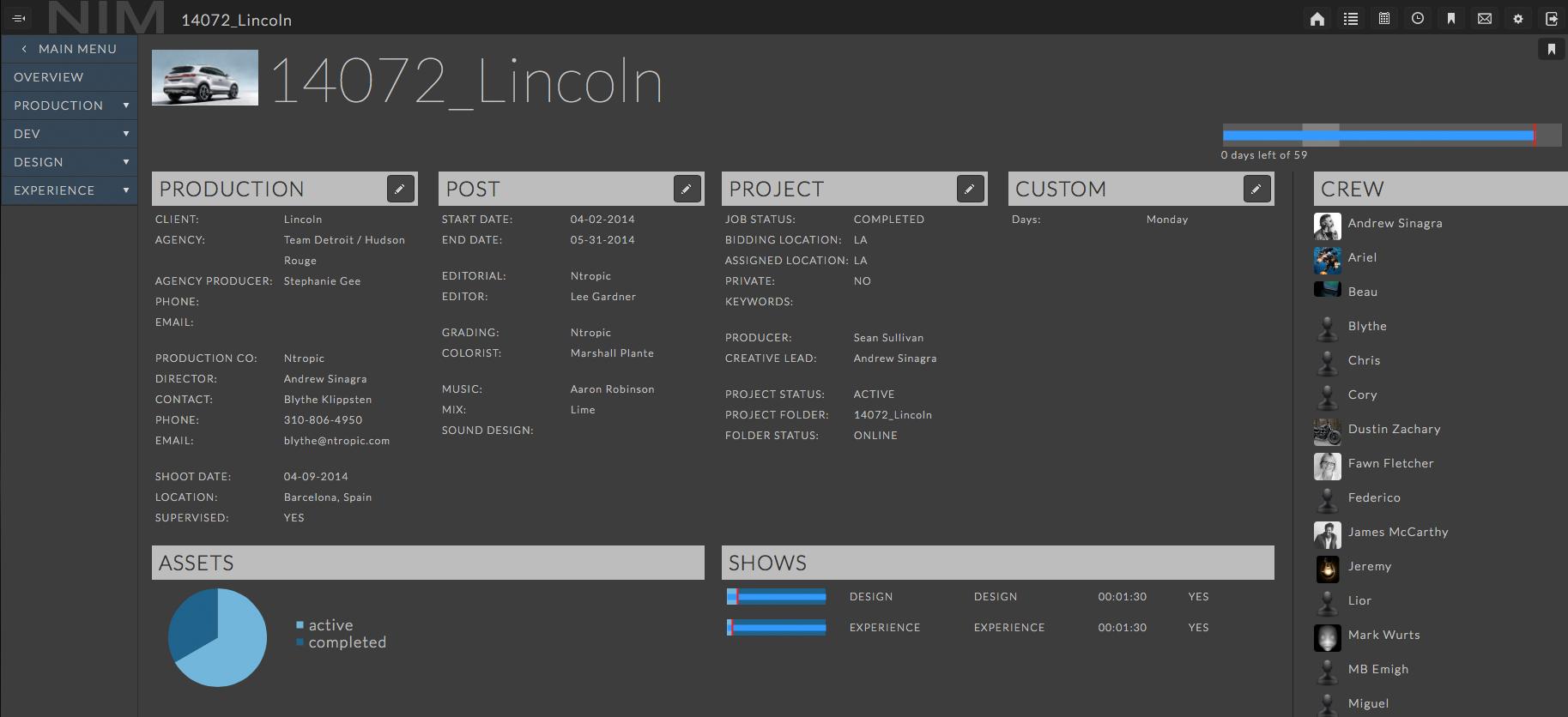 NIM management tool
