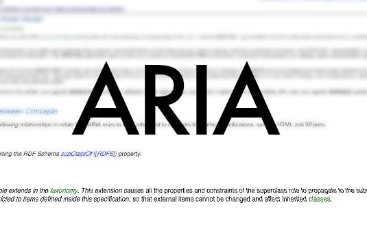 web design terms: ARIA