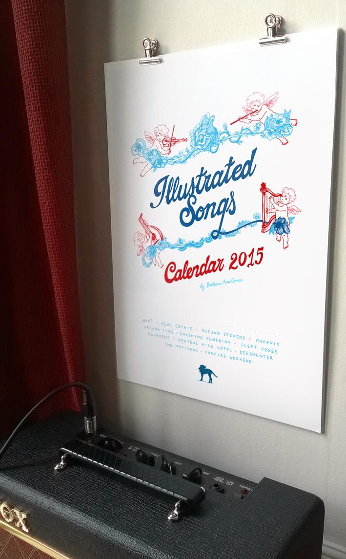 illustrated songs calendar