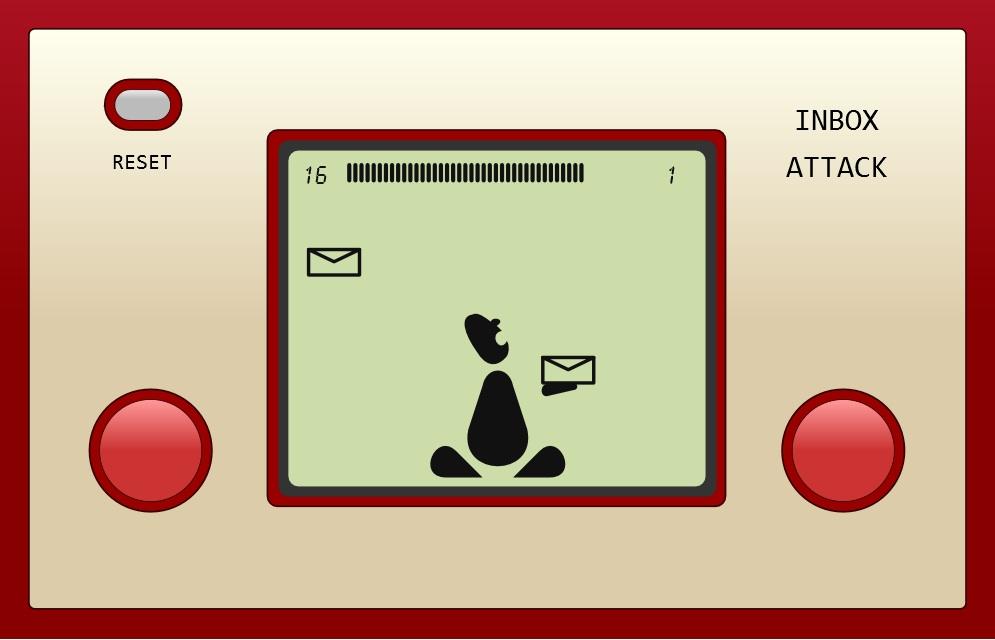 Inbox Attack - a retro SVG game by Daniel Davis